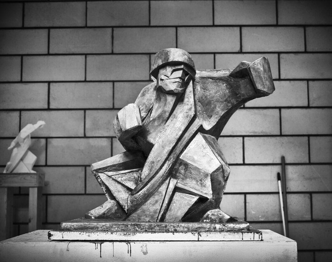 Fen de Villiers Battle sculpture in wax ©AlainSix